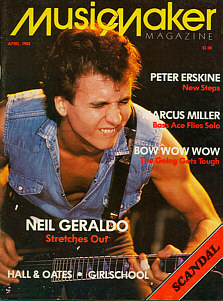 neil geraldo on cover of Music Maker